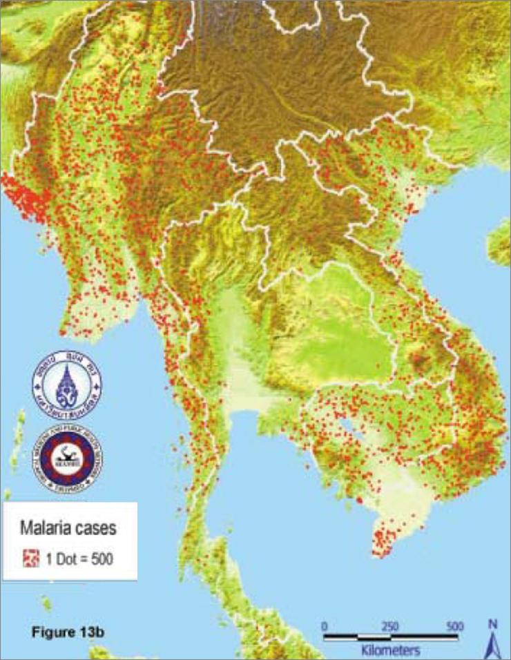 ���ี่ไหน ���นไทย ���ี่มีมาลาเรียบ้าง Thai Travel Clinic Blog