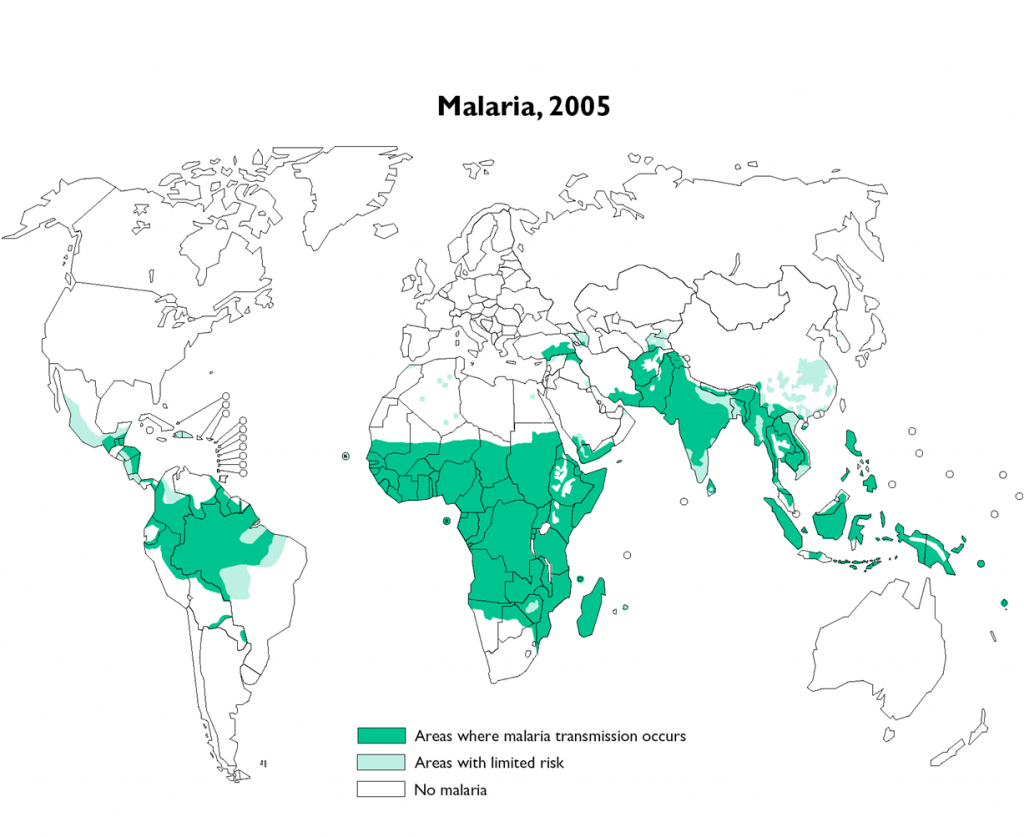 world malaria map