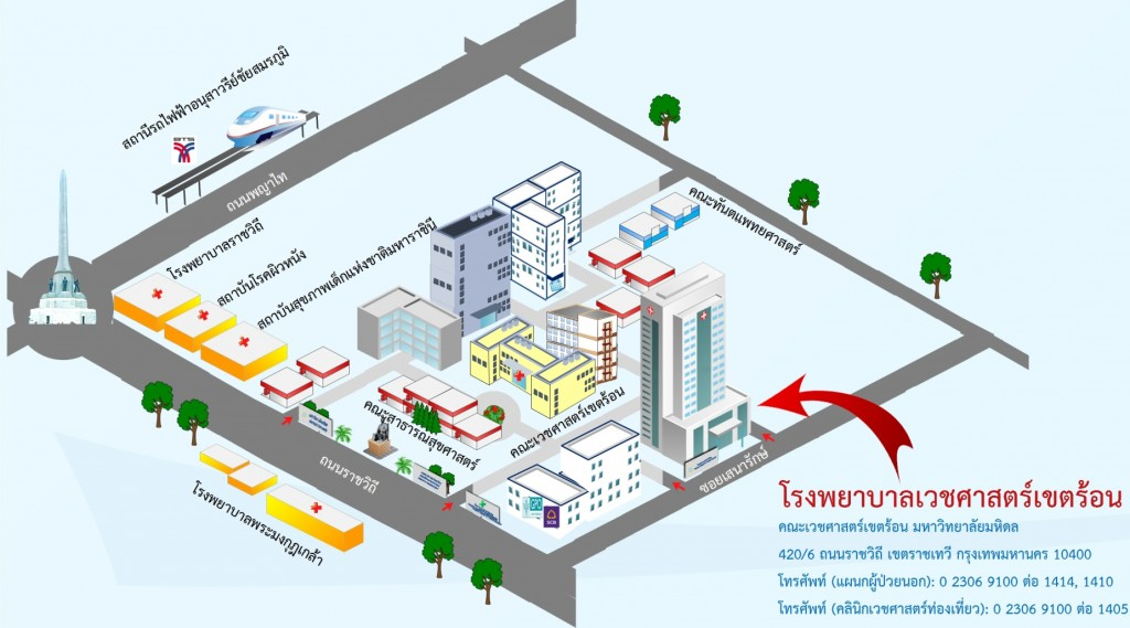 Thai Travel Clinic Map in Thai